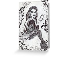 Iconic Raven Queen Greeting Card