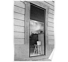Window seat. Poster