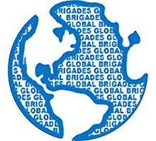 Global Brigades - Blue Photographic Print