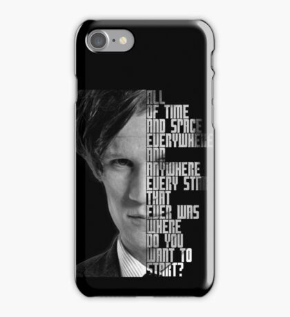 Where Do You Want To Start? iPhone Case/Skin