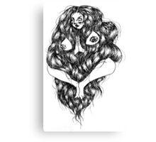 hairy babe I Canvas Print