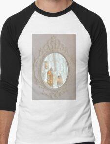 White rococo magic mirror fairy lights bokeh Men's Baseball ¾ T-Shirt
