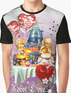Robots in Love Graphic T-Shirt