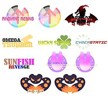 RADIANT AEONS TEAMS LOGOS Photographic Print