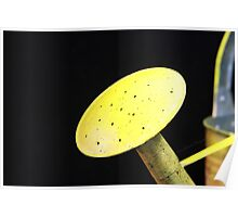 Abstract Yellow Watering Can Poster