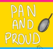 Pan and Proud Cute Print Sticker