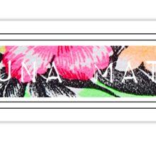 Hakuna Matata - Tropical Print Sticker