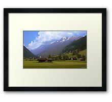 Alps - Stubai Valley, Austria Framed Print