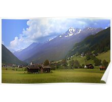 Alps - Stubai Valley, Austria Poster