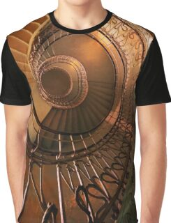 Golden spiral stairs Graphic T-Shirt