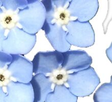 blue flower bunch Sticker