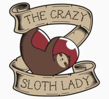 Crazy Sloth Lady Tattoo Kids Clothes