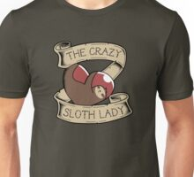 Crazy Sloth Lady Tattoo Unisex T-Shirt