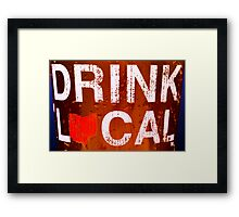 Drink Local 2 Framed Print