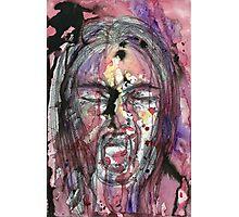 A Watercolor Scream Photographic Print