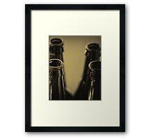 Beer Bottles Framed Print