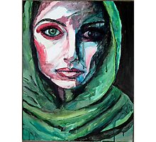 Watercolor Painting of Woman Photographic Print