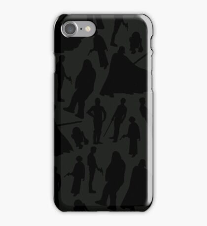 Print-cess Leia & Friends (in Sith Lord color scheme) iPhone Case/Skin
