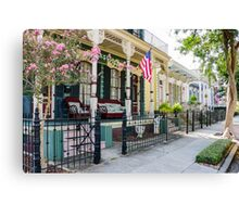 New Orleans Historic Houses Canvas Print
