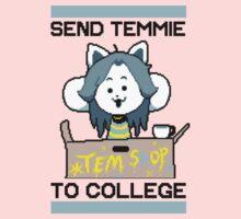 Send Temmie To College! Kids Tee