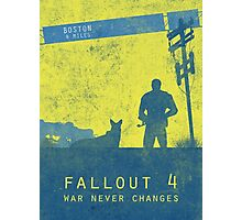 Fallout 4 game poster Photographic Print