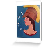 Bust of Pallas Greeting Card