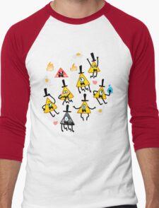 Bill Cipher + Eggs Men's Baseball ¾ T-Shirt