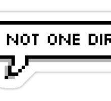 lol ur not one direction Sticker