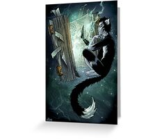 Magic book Greeting Card