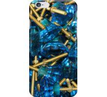 Vintage Blue glass doorknobs iPhone Case/Skin