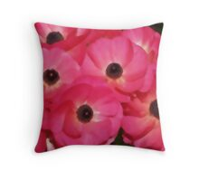 The Red Flowers Throw Pillow
