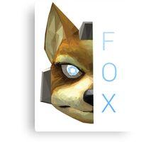 Fox | Super Smash Bros. Melee | Low Polygon Canvas Print