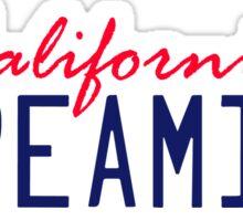California Dreamin License Plate   Sticker