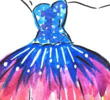 Sunset Ballerina Tutu - Watercolour Illustration Sticker