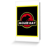 Mouse Rat Distressed Greeting Card