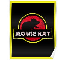 Mouse Rat Distressed Poster