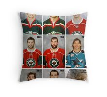 The Evolution of Brent Burns Throw Pillow
