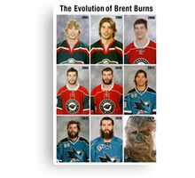 The Evolution of Brent Burns Canvas Print