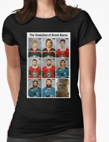 The Evolution of Brent Burns Womens Fitted T-Shirt