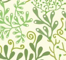 Green Underwater Seaweed Garden Pattern Sticker