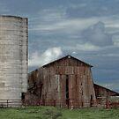 Old Milk Barn and Silo by Floyd Hopper