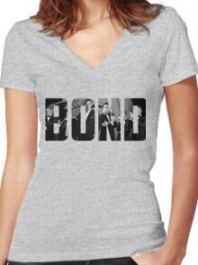 Bond Women's Fitted V-Neck T-Shirt