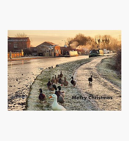 Frozen Lancaster Canal Dec 2010 Photographic Print