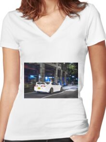 TOYOTA Supra  Women's Fitted V-Neck T-Shirt