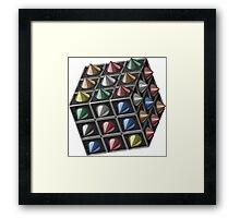 Metal cube Framed Print