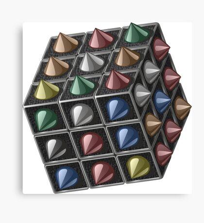 Metal cube Canvas Print