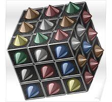 Metal cube Poster