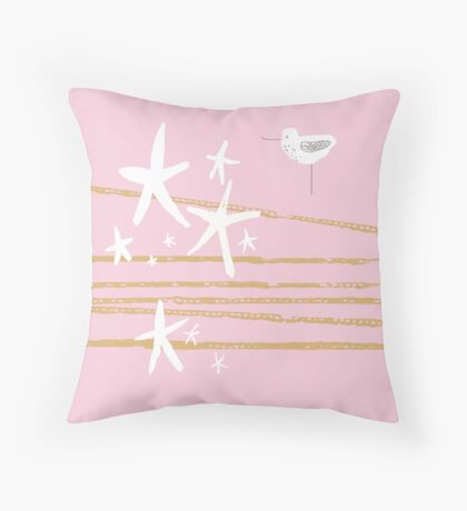 Shoreline - shell Throw Pillow