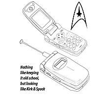 Flip Cell Phone, Spok & Kerk, Star Trek Photographic Print