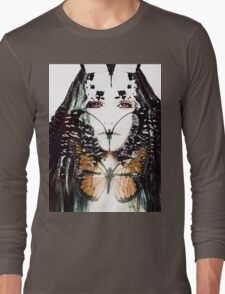 Butterfly Woman Hardcore Abstract Contemporary Art Long Sleeve T-Shirt